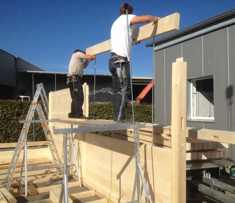 Leistungen: Holzständerbau